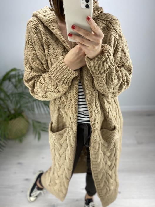 Sweterek Maxi karmel