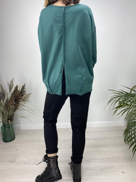 Bluza Stay calm szmaragd