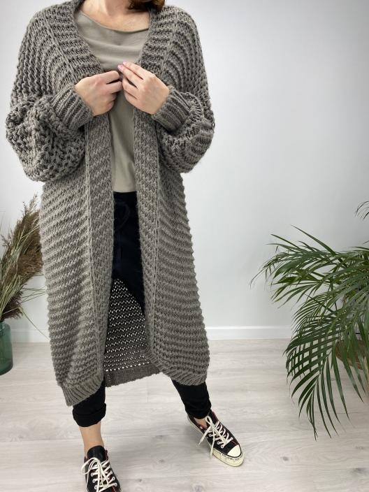 Sweter Coat kawowy