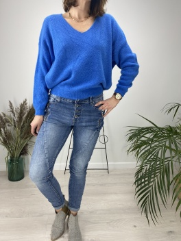 Sweter Simple indygo