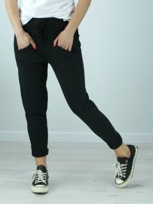 Spodnie dresowe Relaxed czarne