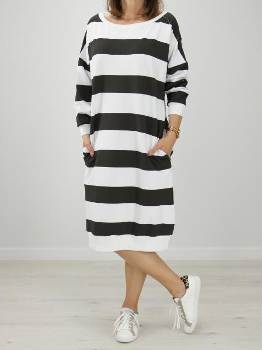 Bawełniana suknia Stripes