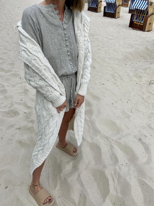 Sweterek Maxi cream