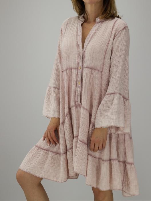 Muślinowa mini sukienka różowa