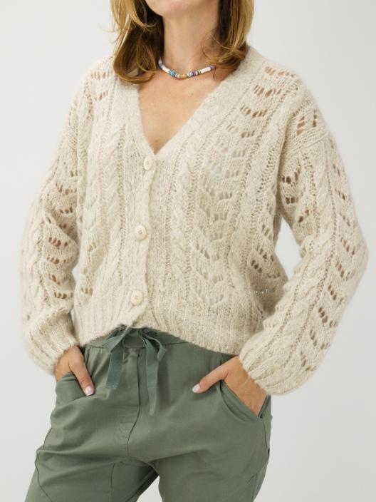 Sweterek ażur z moherem