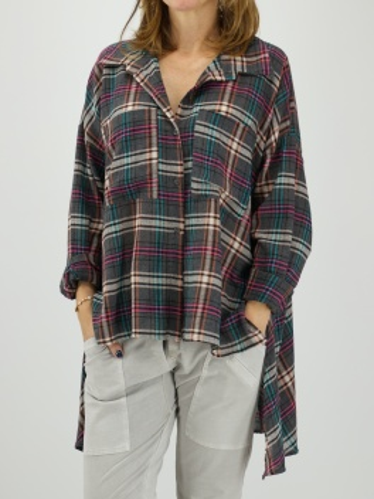 Kraciasta koszula asymetric