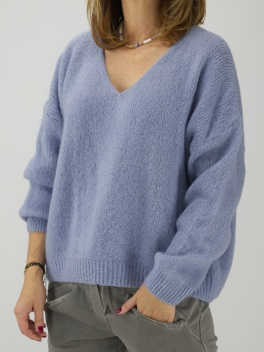Sweter z moherem błękit