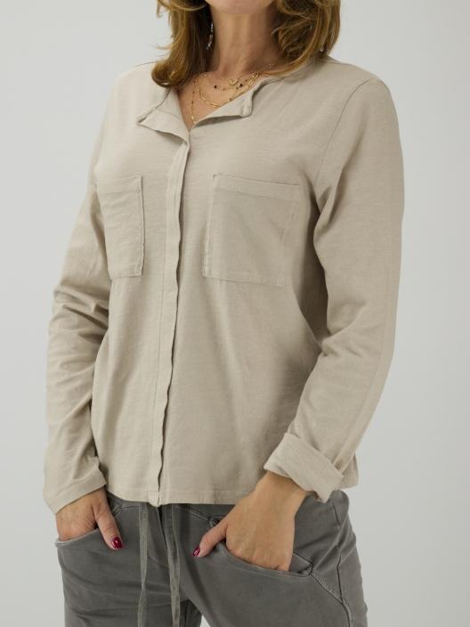 Bluzka basic z kieszonkami