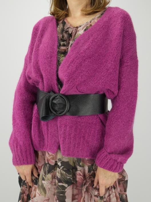 Sweterek kardigan z moherem