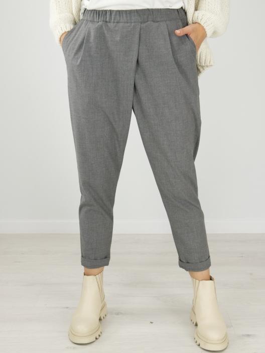 Spodnie z zakładką szare