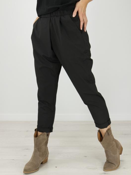 Spodnie z zakładką czarne