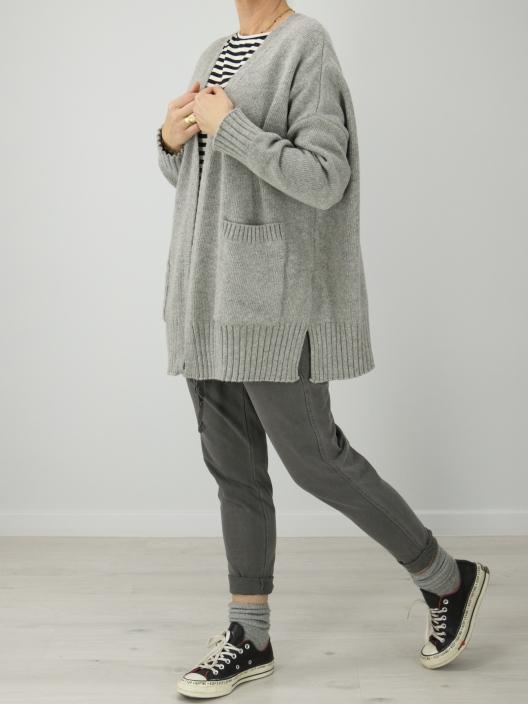 Sweter Pocket szary