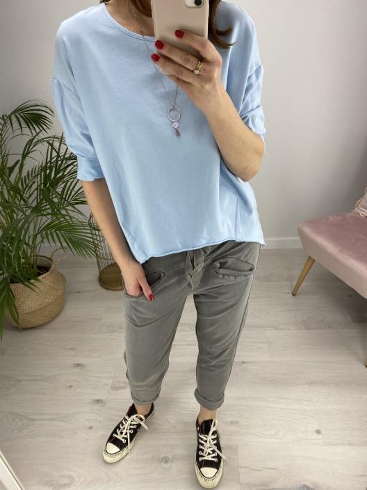 Bluza Stay calm niebieska