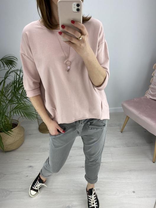 Bluza Stay calm róż